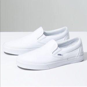 Classic White Slip On Vans